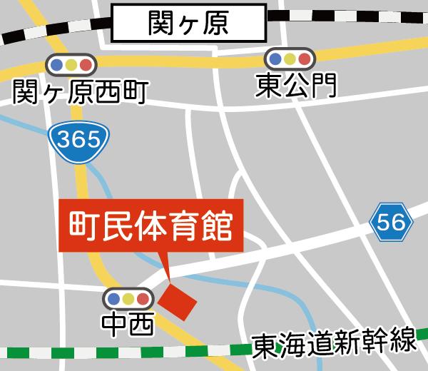 関ヶ原町 町民体育館マップ
